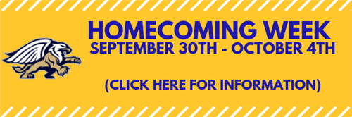 Homecoming Week Information Banner Link
