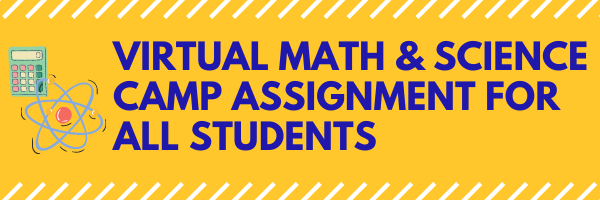 Upperclassmen virtual math & science camp coming soon!